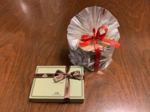 チョコレートとバウムクーヘン